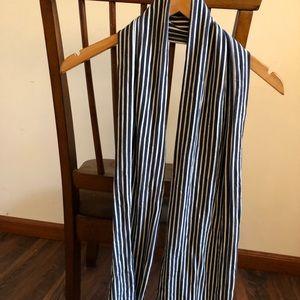 Jersey Scarf Blue-White Stripe